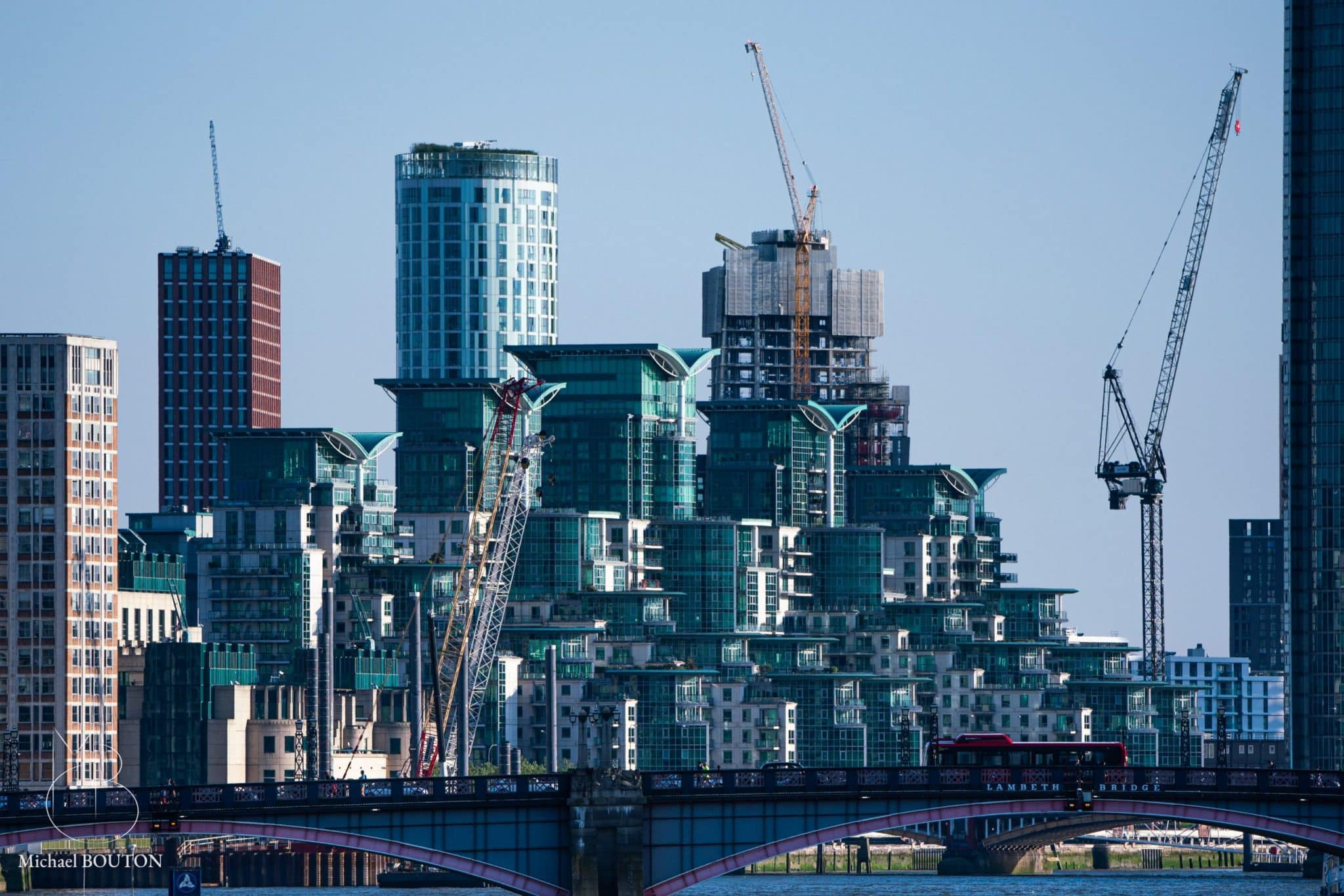 Photo de chantier dans le quartier de Vauxhall à Londres - Michael Bouton - photographe architecture - edifice-photo.com