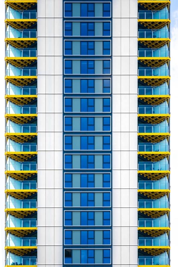 Façade de la tour One the Elephant à Londres - Photographe Architecture - Michael Bouton