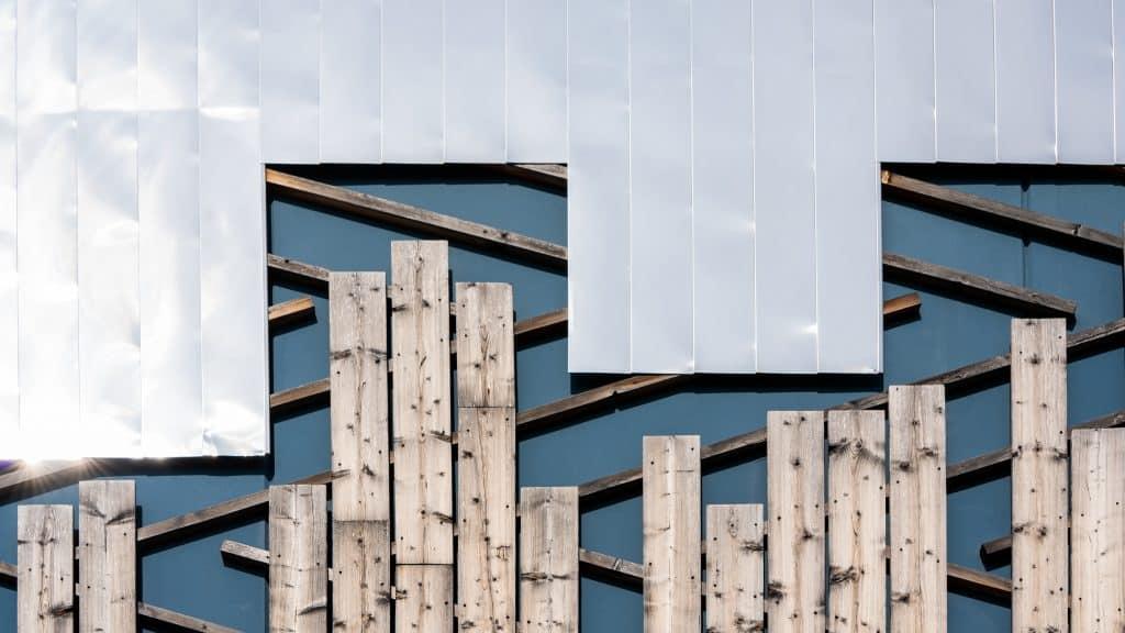 Façade en bois et métal de la chaufferie Eco2 Wacken de Strasbourg - Photographe Architecture - Michael Bouton