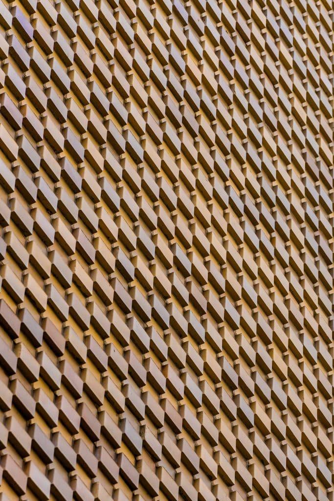 Motif en briques sur un mur - Photographe Architecture - Michael Bouton
