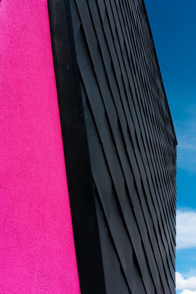 Photo de détail du bâtiment Origami à Mulhouse - Photographe Architecture - Michael Bouton