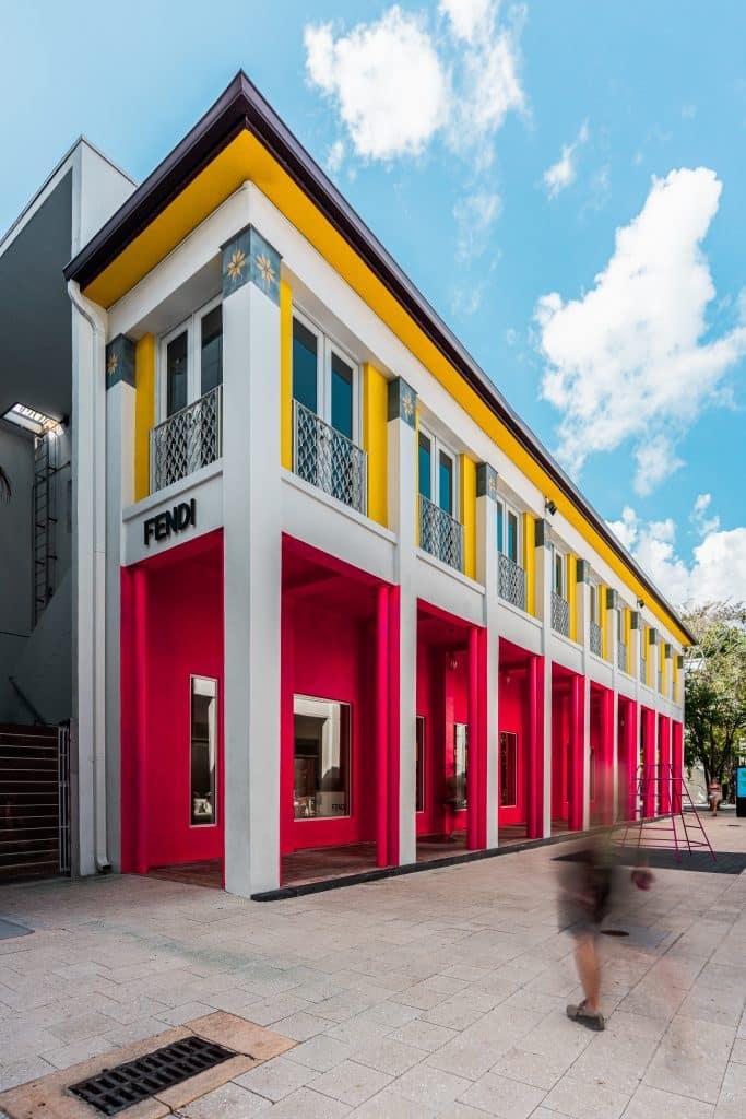 Passage de la boutique du Fendi du Design District à Miami en Floride (Architectes : Johanna Grawunder) - Michael BOUTON - Photographe Architecture