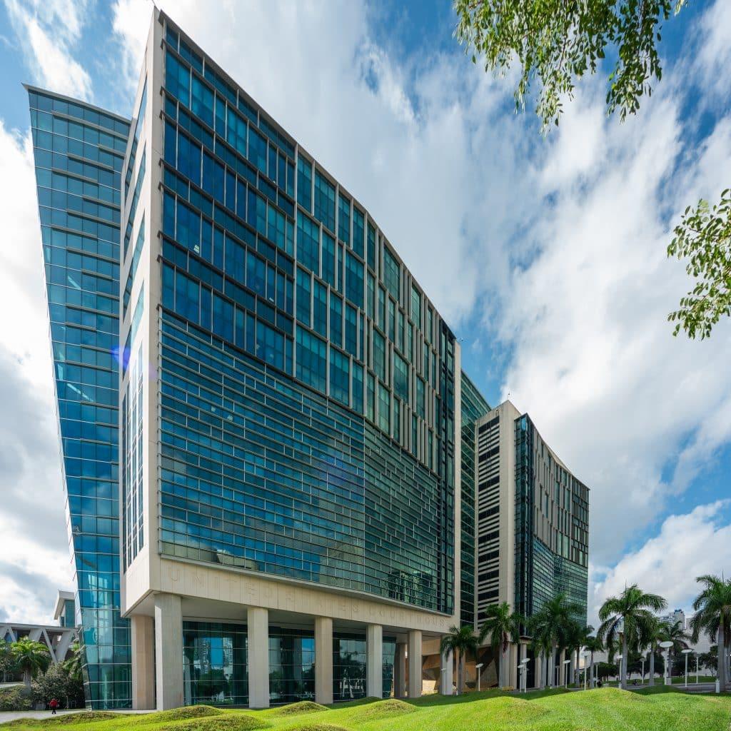 Palais de justice Wilkie D. Ferguson à Miami en Floride (Architectes : Arquitectonica) - Michael BOUTON - Photographe Architecture