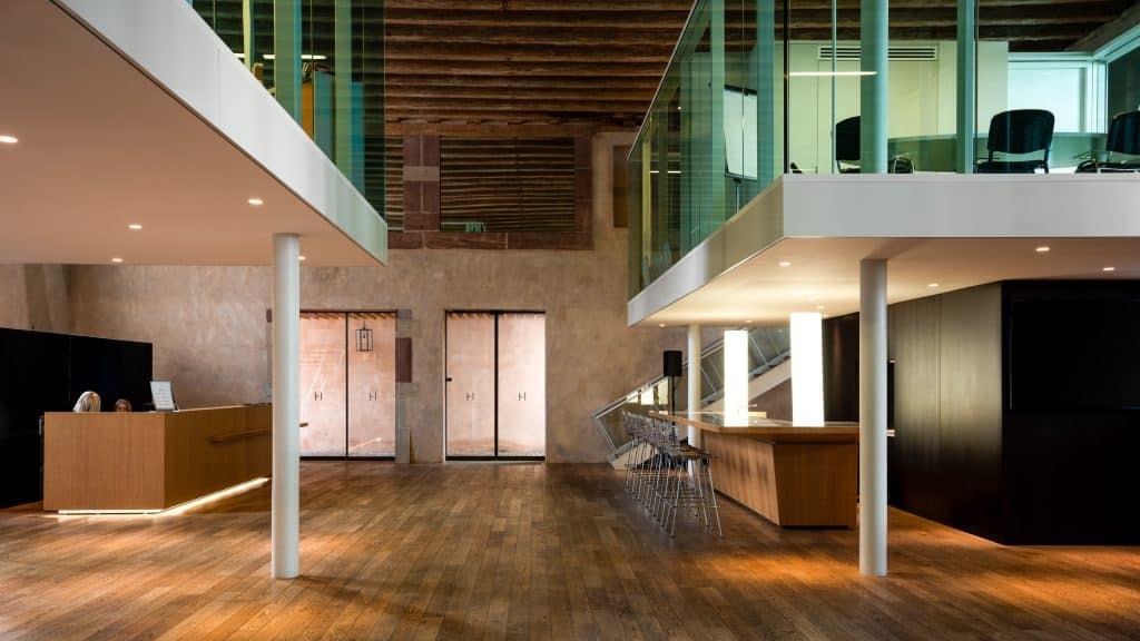 Salle de réception du Biocluster à Strasbourg en Alsace (Architectes : Denu & Paradon) - Michael BOUTON )- Photographe Architecture