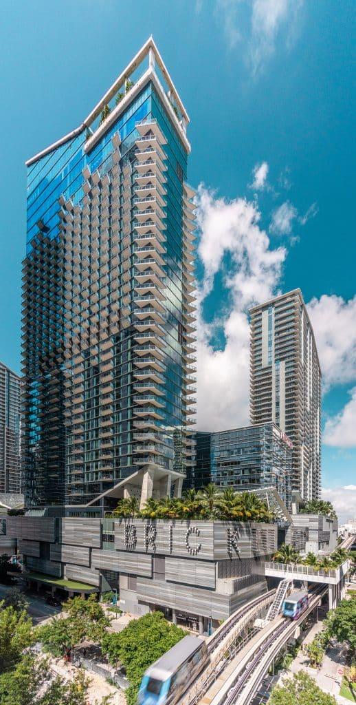 """Centre commercial """"Brickell City Center"""" à Miami en Floride (Architectes : Arquitectonica) - Michael BOUTON - Photographe Architecture"""