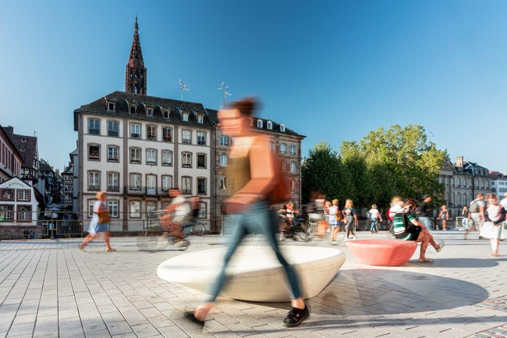 Mobiliers urbains sur les quais de Strasbourg en Alsace (Architectes : Durbanis) - Michael BOUTON - Photographe architecture