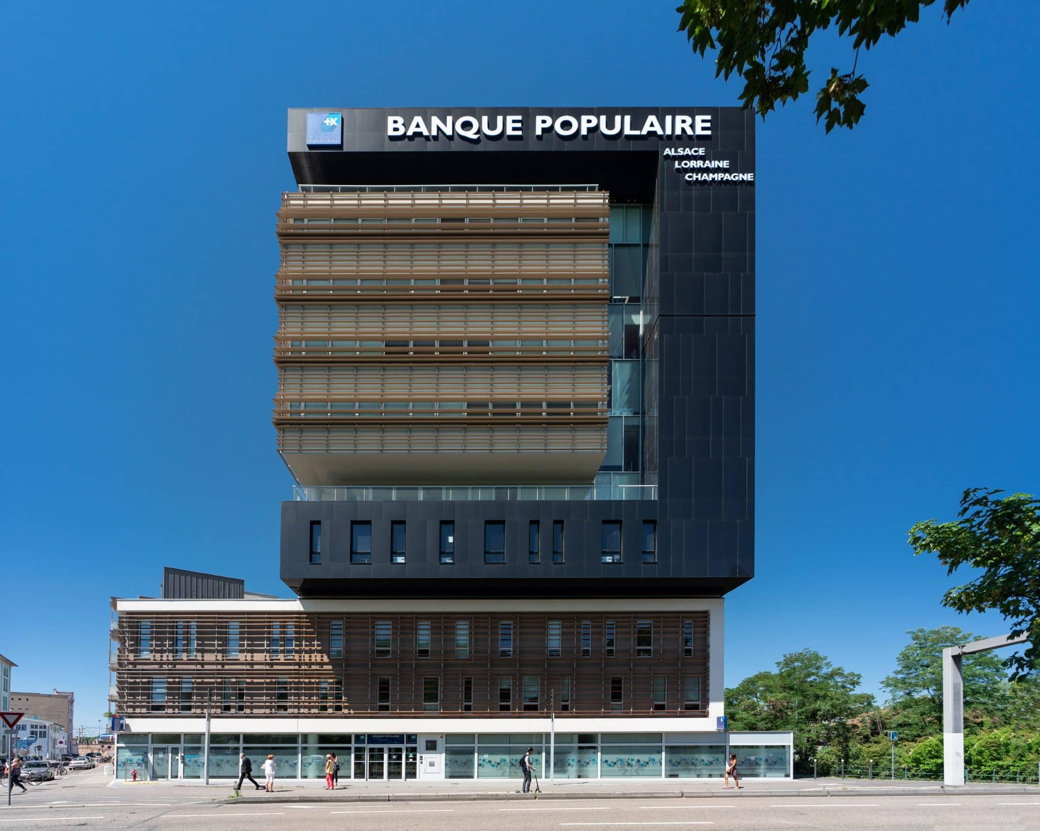 """Bâtiment """"Le W"""", Strasbourg en Alsace (Architectes : Thales Architecture) - Michael Bouton - Photographe Architecture"""