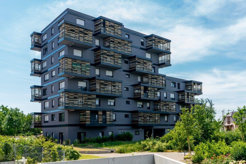 """Résidence """"Le beaupré"""" à Ostwald, près de Strasbourg en Alsace (Architects : Nicolas Laisne) - Michael BOUTON - Photographe Architecture"""