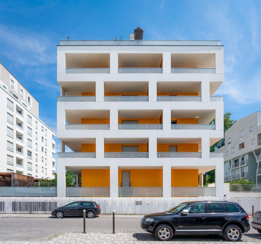 """Résidence """"Atmôsphère"""" à Ostwald, près de Strasbourg en Alsace (Architectes : ECDM) - Michael BOUTON - Photographe Architecture"""