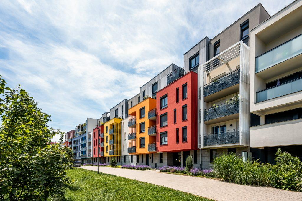 """Résidence """"L'Initial"""" à Strasbourg en Alsace (Architectes : Oslo Architectes) - Michael BOUTON - Photographe Architecture"""