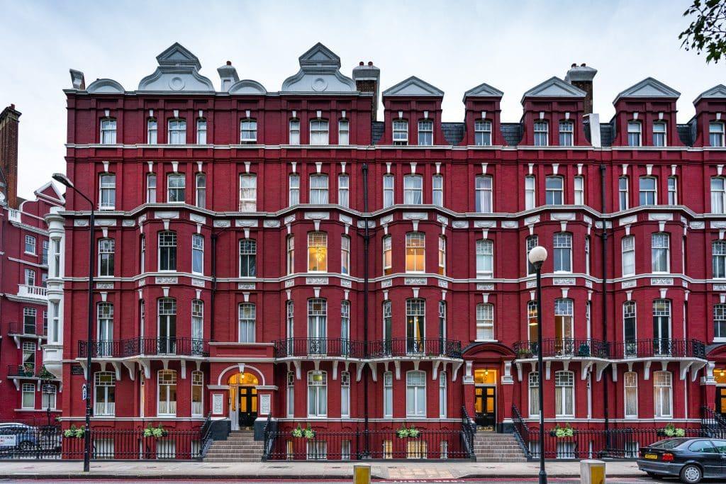 Architecture victorienne de logements à Oxford & Cambridge Mansions à Londres en Angleterre - Michael BOUTON - Photographe Architecture
