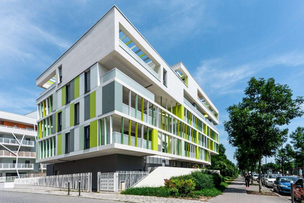 """Résidence """"Terrazza Verde"""" à Ostwald, près de Strasbourg en Alsace (Architectes : Oslo Architectes) - Michael BOUTON - Photographe Architecture"""