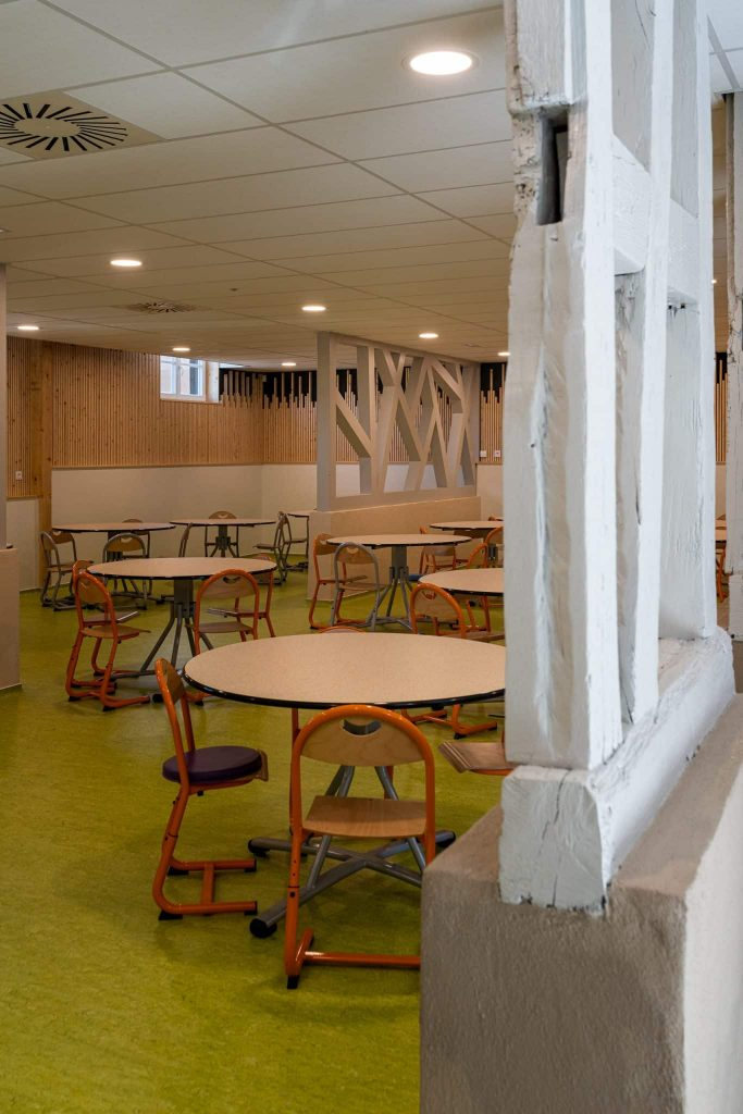 Photographe Architecture Alsace Renovation entre modernite et tradition avec les poutres apparentes
