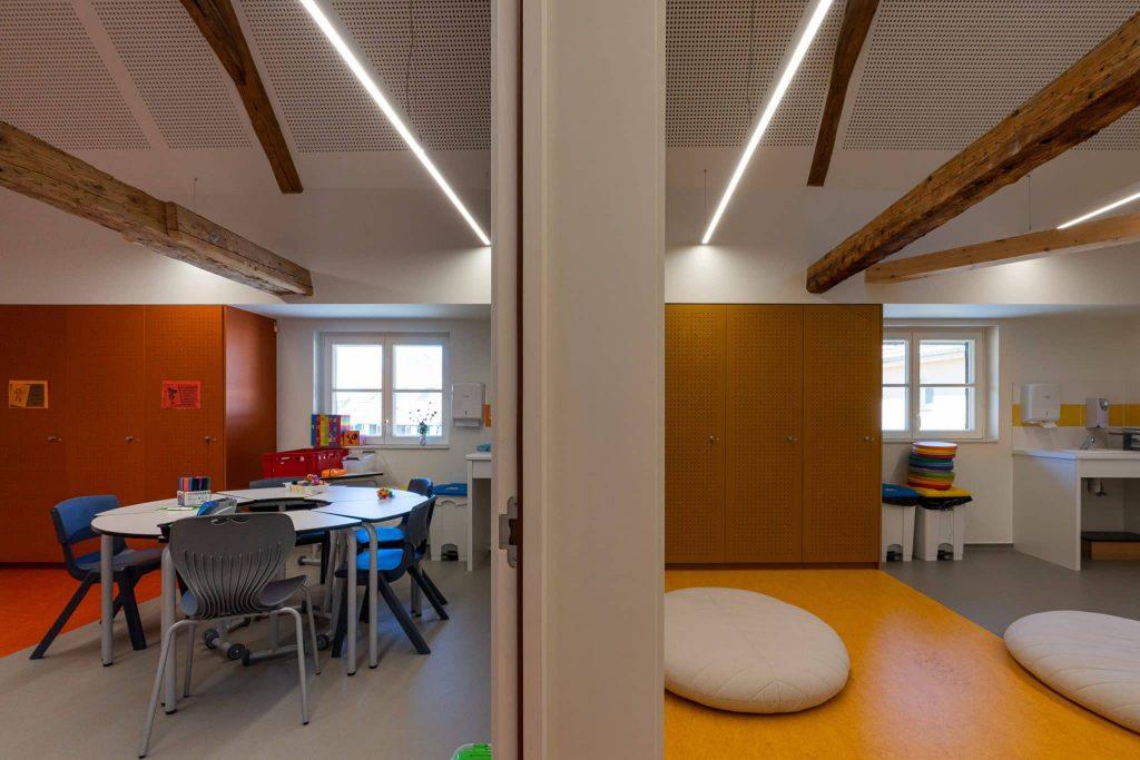 Photographe Architecture Alsace Renovation salles jaune et rouge