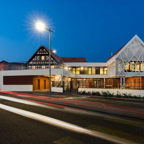 Photographe Architecture renovation Alsace - photo nocturne