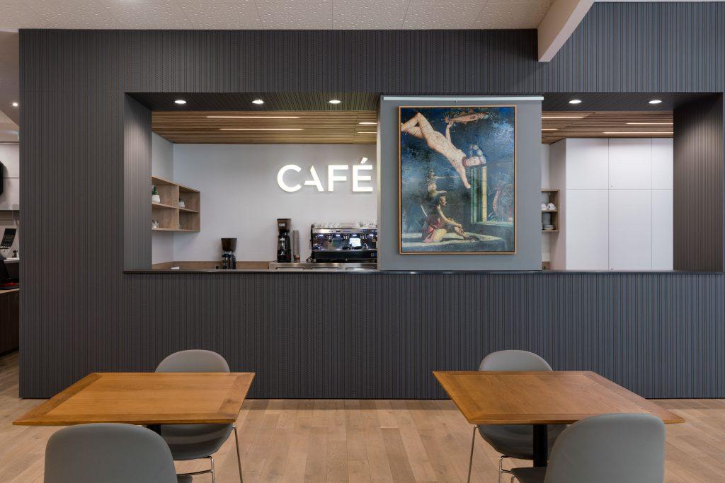 agencement intérieur ircad strasbourg - cafétéria
