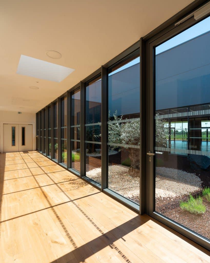 architecture intérieure salle des fetes - couloir